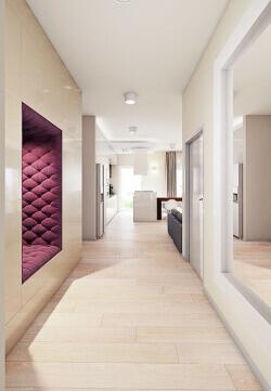 hallway 3d interior rendering