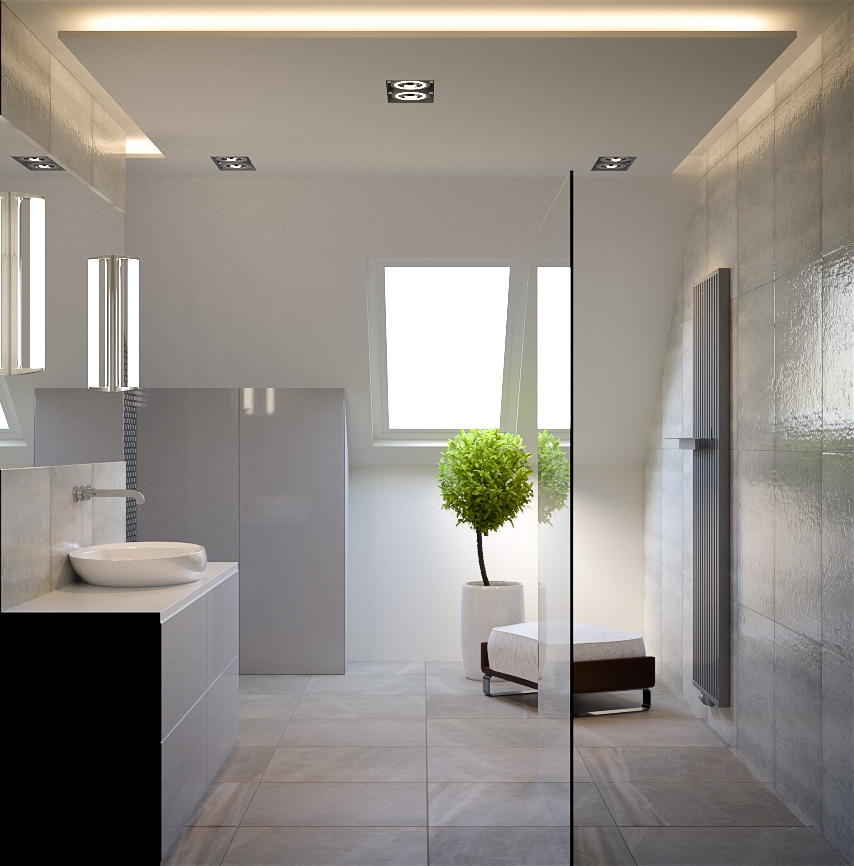 bathroom 3d interior rendering