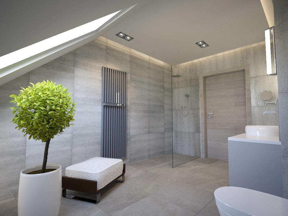 bathroom 3d interior rendering