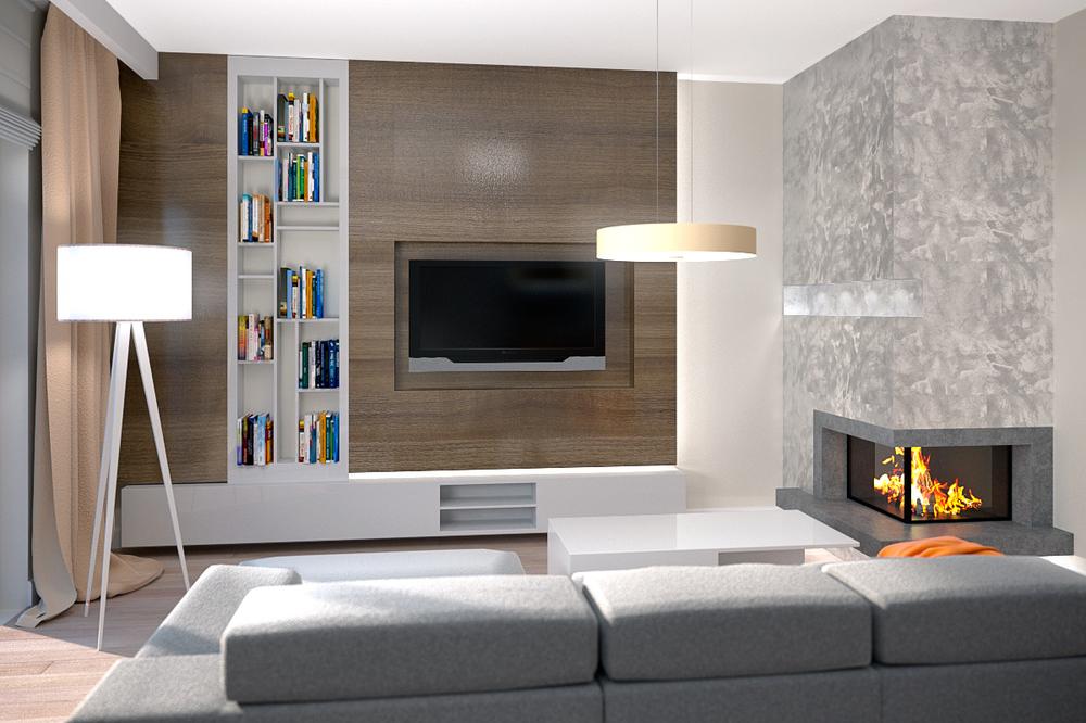 living room 3d interior visualization