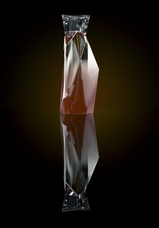 Perfume bottle 3d modeling and render