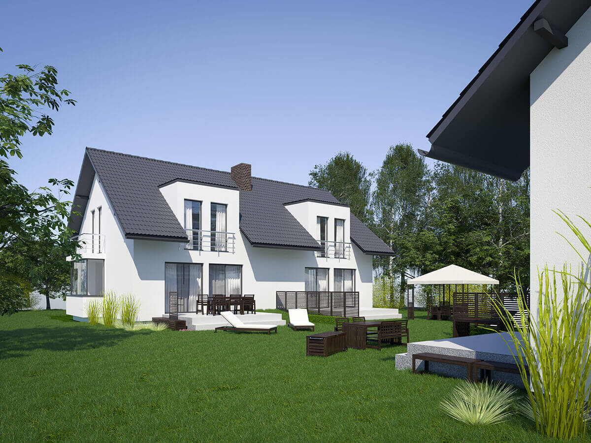residential exterior 3d visualization