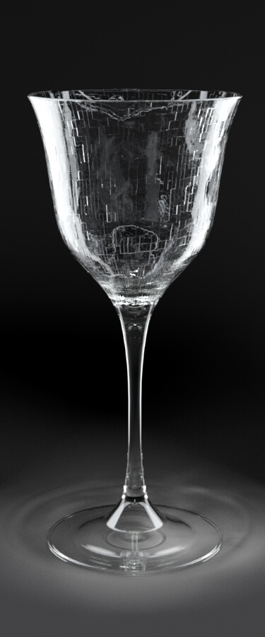 3d render mental ray glass test