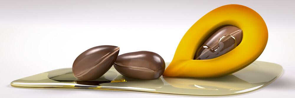 argan oil 3d product render done for package designer