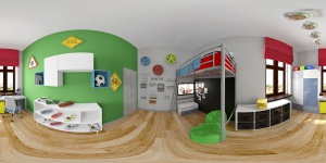 Kids room 360 Panorama 3d