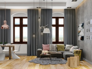 Living Room interior rendering