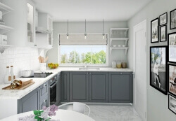 Classic kitchen interior visualization