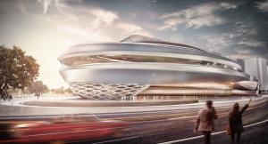 congress center 3d exterior visualization