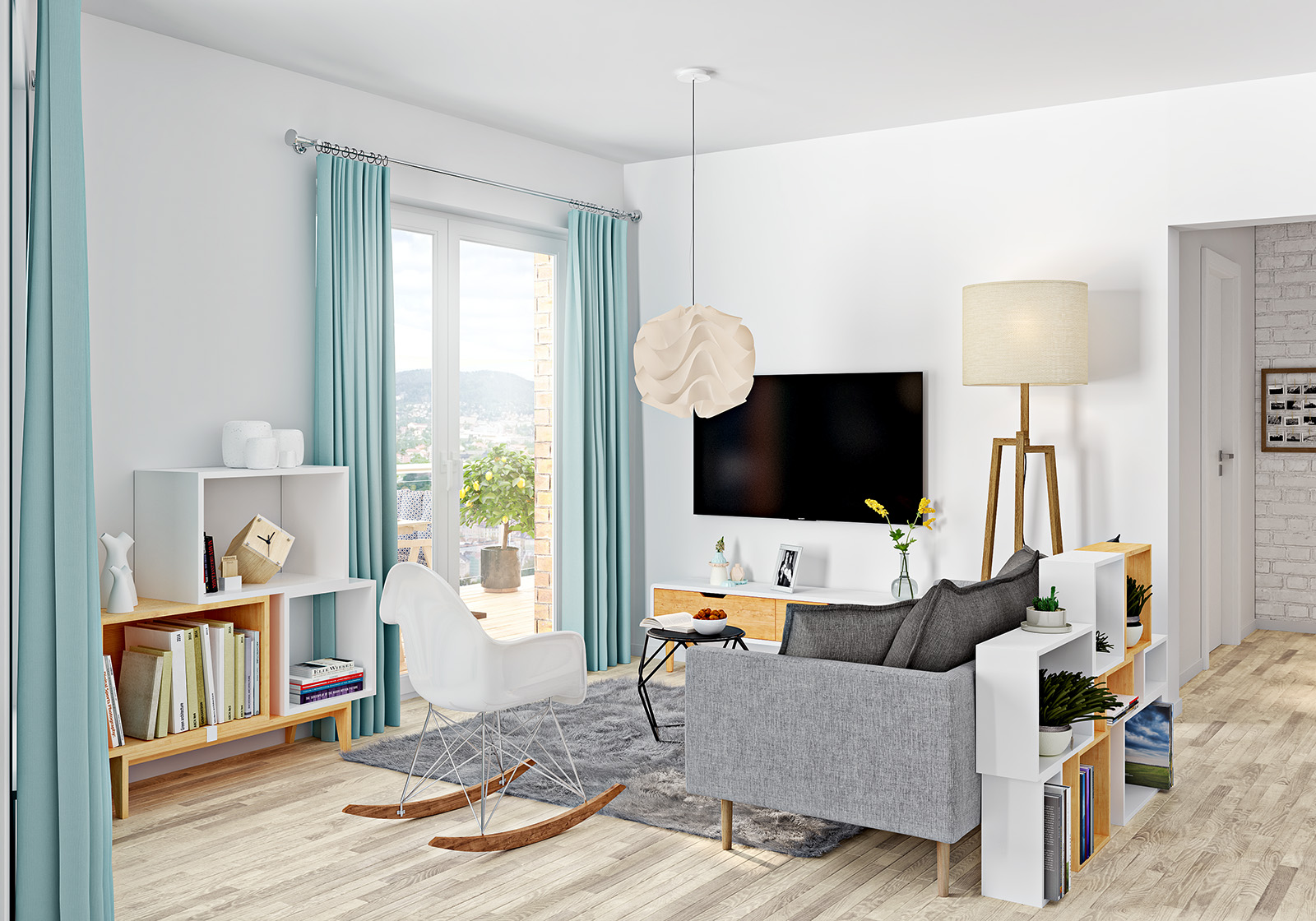 Living room in Oslo Norway – Aunar 3d