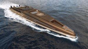150m Super Motor Yacht 3d renders