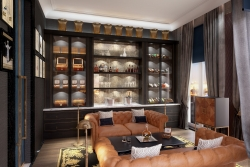 3d rendering of wine room in Moscow's apartment