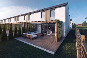 the row house 3d visualization