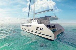 Catamaran 3d rendering