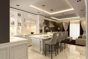 kitchen interior visualization